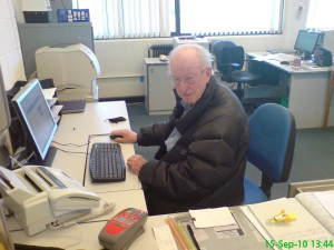 Peter Watney, PCUG Office Volunteer, 2011